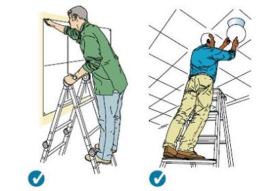 踩梯子画画卡通素材